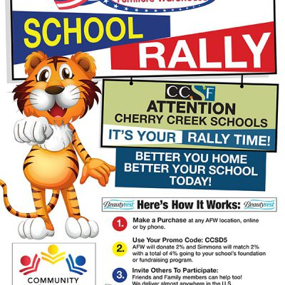 American Furniture Warehouse Community flyer with tiger