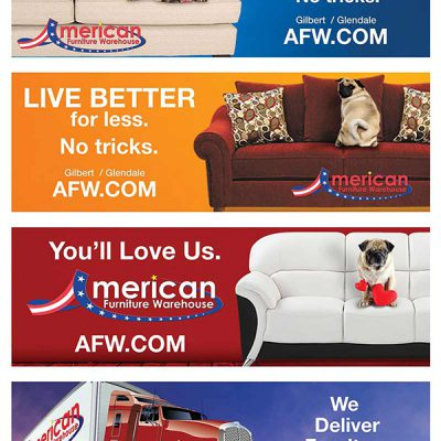 American Furniture Warehouse LED billboard ad 2016