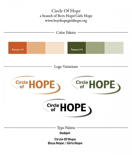 3 Circle of Hope logo designed by Noami Foster