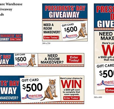 AFW Presidents' Day Giveaway email campaign