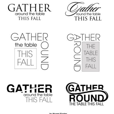 6 logo samples for American Furniture Warehouse Gather around the table email
