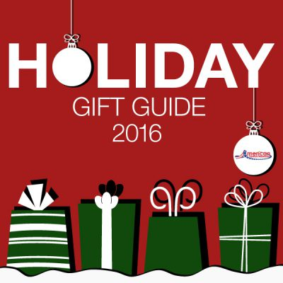 American Furniture Warehouse Holiday Gift Guide 2016 with ornaments and green gift presents