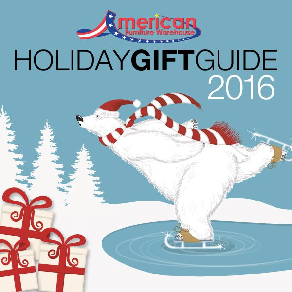 American Furniture Warehouse Holiday Gift Guide 2016 white polar bear on skates