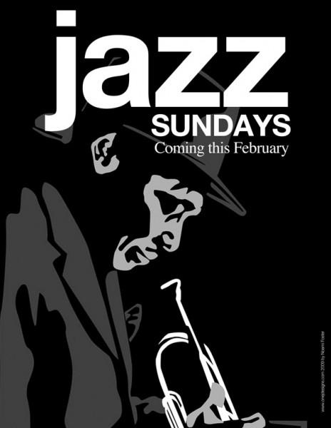 Shadow Theatre Company Jazz Sunday print and digital campaign