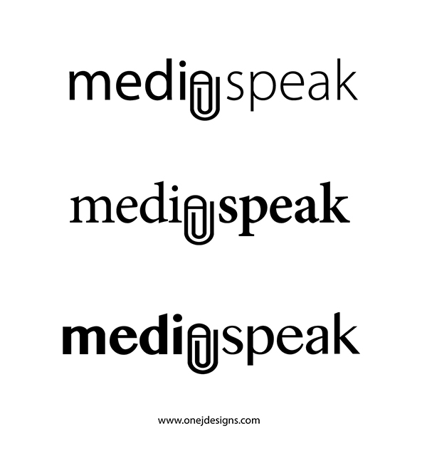 Media Speak 3 logo concepts
