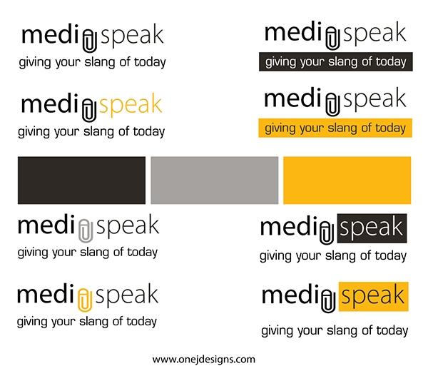 Media Speak logo Branding