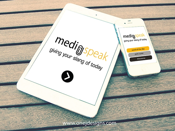 Media Speak UI design