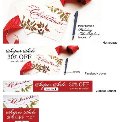 Paper Direct 30% Off digital campaign for social media and banner ads