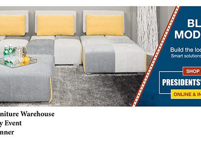 American Furniture Warehouse Presidents' Day Home page banner