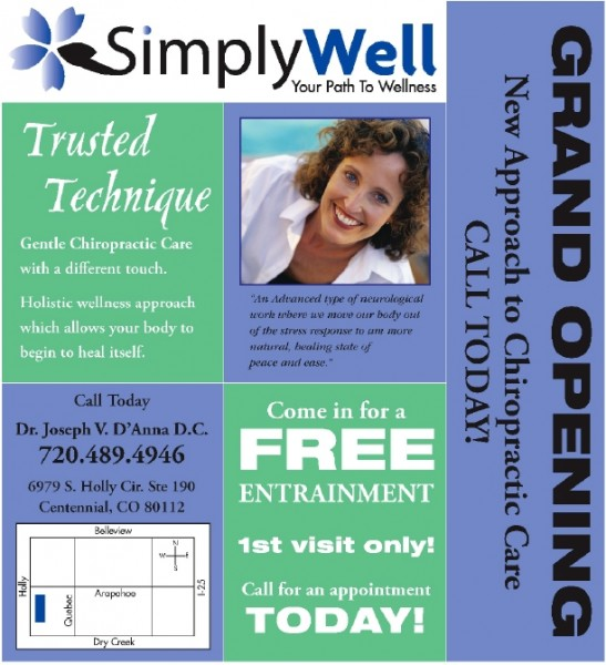 Simply Well newspaper insert and mailer designed by Noami Foster for The Denver Post