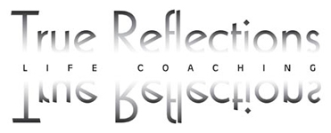 True Reflections black and white logo designed by Noami Foster