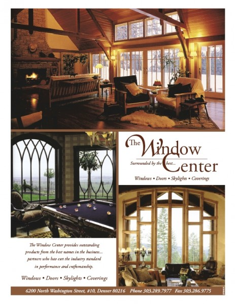 Window Center full page magazine advertisement designed by Noami Foster for Luxury magazined published by The Denver Post