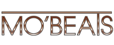 Brown metallic Mo' Beats logo designed by Noami Foster