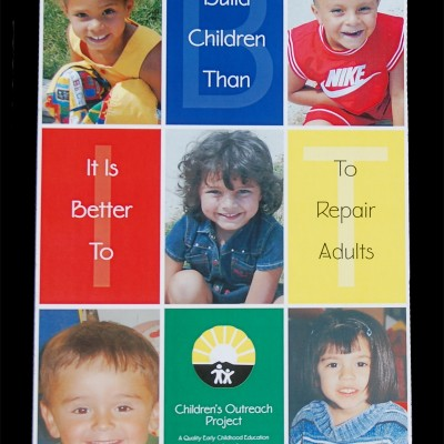 Children's Outreach Project Poster designed by Noami Foster