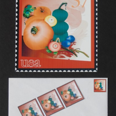Illustrated Thanksgiving stamps