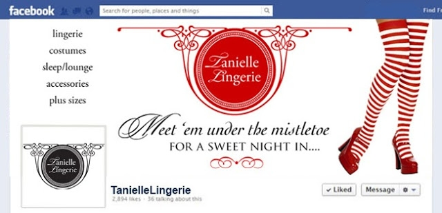 Tanielle Lingerie Meet Me Under the mistletoe campaign