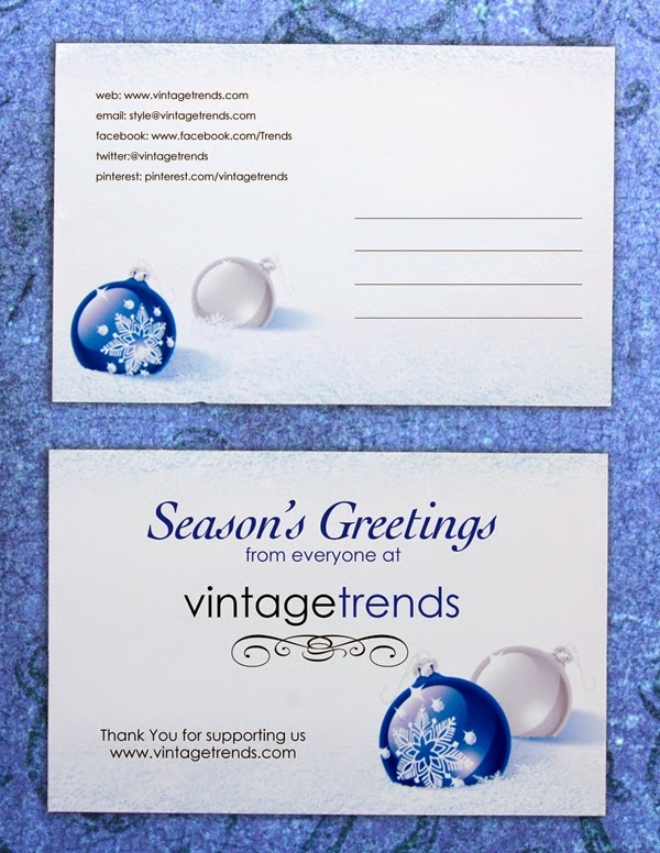 Vintage Trends speculative Cobalt Blue Front and Back Postcard design