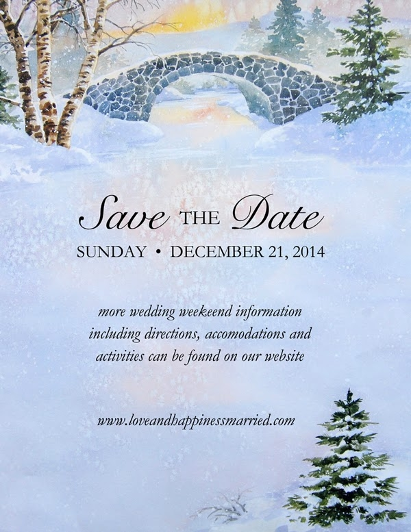 Winter Morn SaveThe Date Wedding Announcement