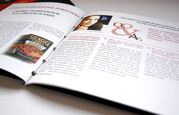 Campbell's Soup annual report  internal page