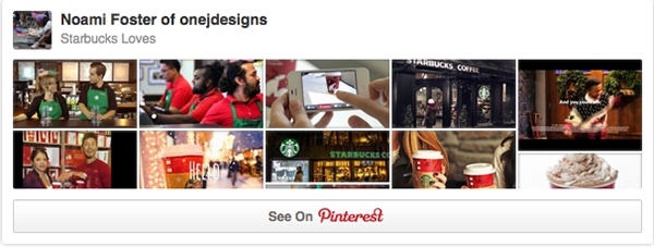 Starbucks Love Board on Pinterest