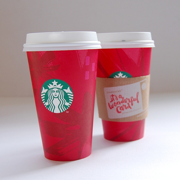 2 Starbucks Holiday red grande cups