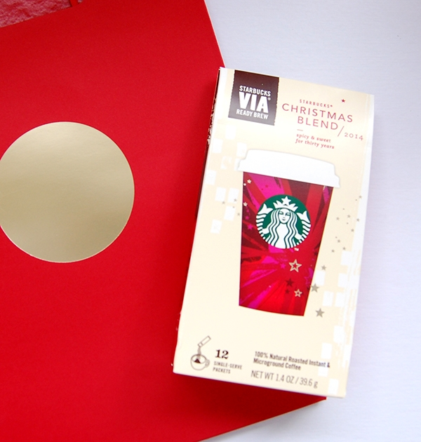 Via holiday coffee 12 pack and red gift bag