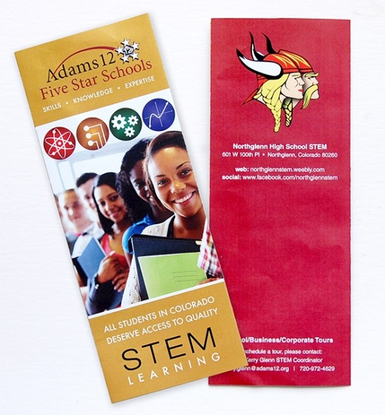 Adams 12 star STEM brochure folded