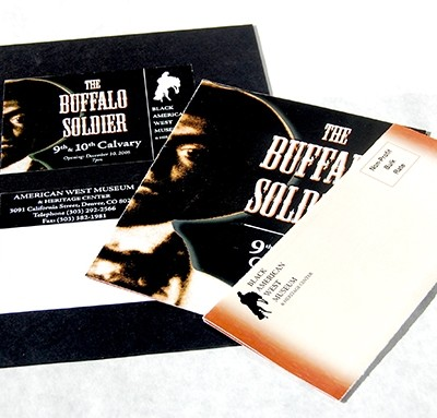 Black Western Museum Fundraiser Print Material Mock-Up 2004
