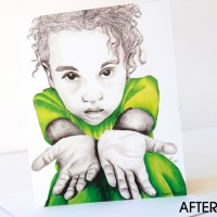 Go Green For Me After Note Card from the True Colors Collection