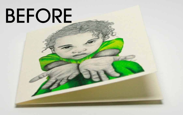 Go Green For Me Note card before flat from The True Colors Collection for the ETSY shop