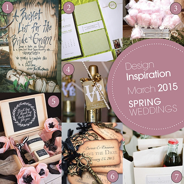 Design Inspiration March 2015 Spring Wedding