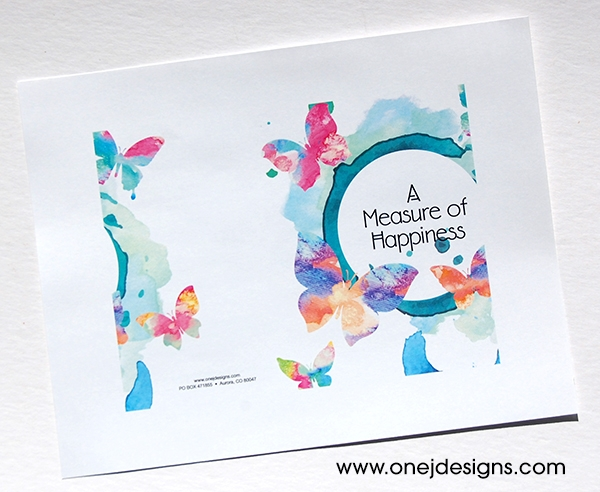 A Measure of Happiness Card Print Job outside