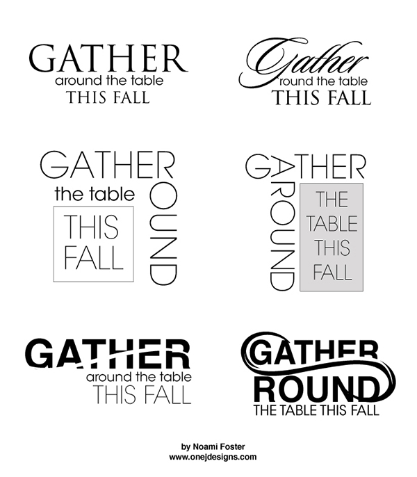 Gather Around Logo designs