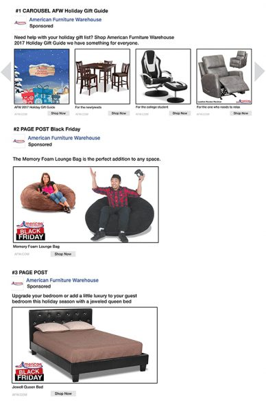 AFW Black Friday Paid Facebook Ads