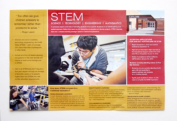 Adams 12 Stem Learning Brochure inside