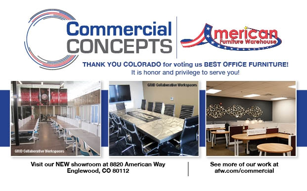AFW Commercial Concepts half page ad with Colorado Biz magazine Best Of 2017 spec 2