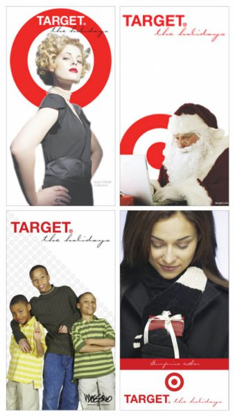 4 The Denver Post full page newspaper spec ads for Target
